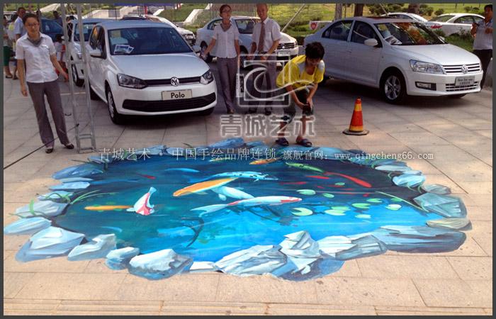 潍坊临朐大众4s展示立体画